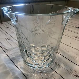 Other - Heavy Glass Grape Textured Ice Bucket